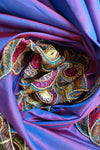 2 Tone Silk Vintage Scarf - New - Indian Suit Company