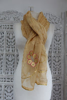 Soft Caramel Vintage Shawl - New - Indian Suit Company