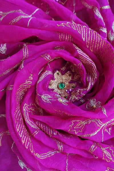 Pink Vintage scarf - Preloved - Indian Suit Company