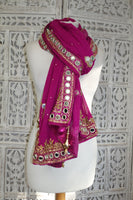 Magenta Mirror Scarf - New - Indian Suit Company