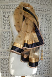 Gold & Black Net Shawl - New - Indian Suit Company