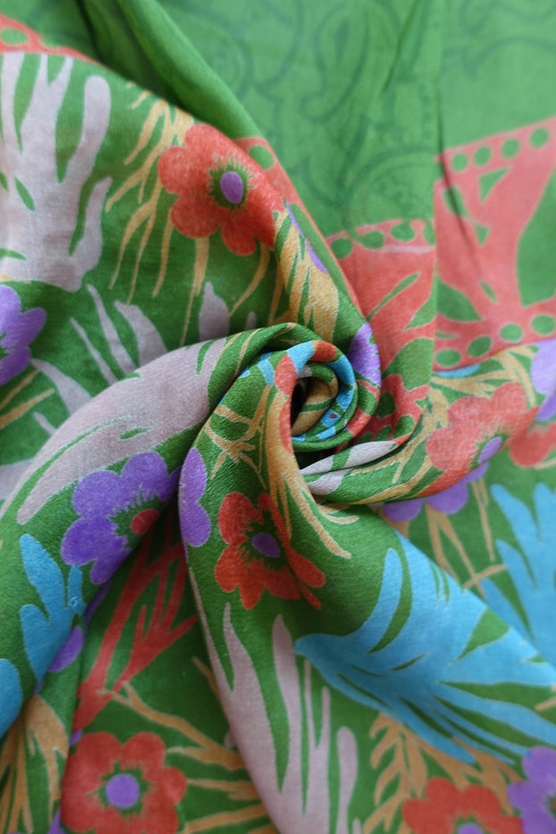 Green Printed Scarf - New - Indian Suit Company