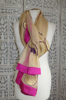 Gold Voile Net Scarf - New - Indian Suit Company