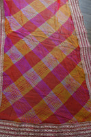 Pink & Orange Chiffon Scarf - Preloved - Indian Suit Company