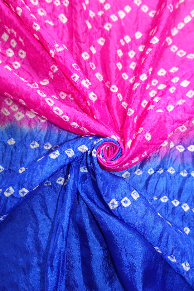 Purple & Pink Bandhani Print Scarf - New - Indian Suit Company