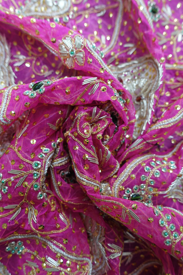Pink Vintage Wedding Scarf  - New - Indian Suit Company