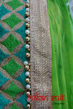 Green Cotton Silk Salwar Kameez- Uk Size 8 / Eu 34 - Preloved - Indian Suit Company