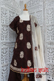 Brown & cream salwar kameez - UK Size 20/EU Size 46 – preloved