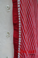 Cream & Red Punjabi Indian Salwar Kameez - UK 22 / EU 48,  - New - Indian Suit Company