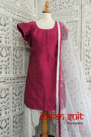Magenta & white salwar kameez - UK 12 / EU 38 - New