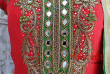 Red & Green Salwar Kameez - UK 10  / EU 36,  - New - Indian Suit Company