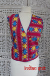 Pink Cotton Phulkari Jacket - New - Indian Suit Company