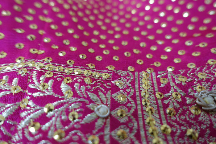 Pink Silk Vintage Choli UK 8 / EU 34 - New - Indian Suit Company