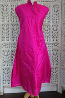 Hot Pink Pure Silk Tunic - UK 16 / EU 42 - Preloved - Indian Suit Company