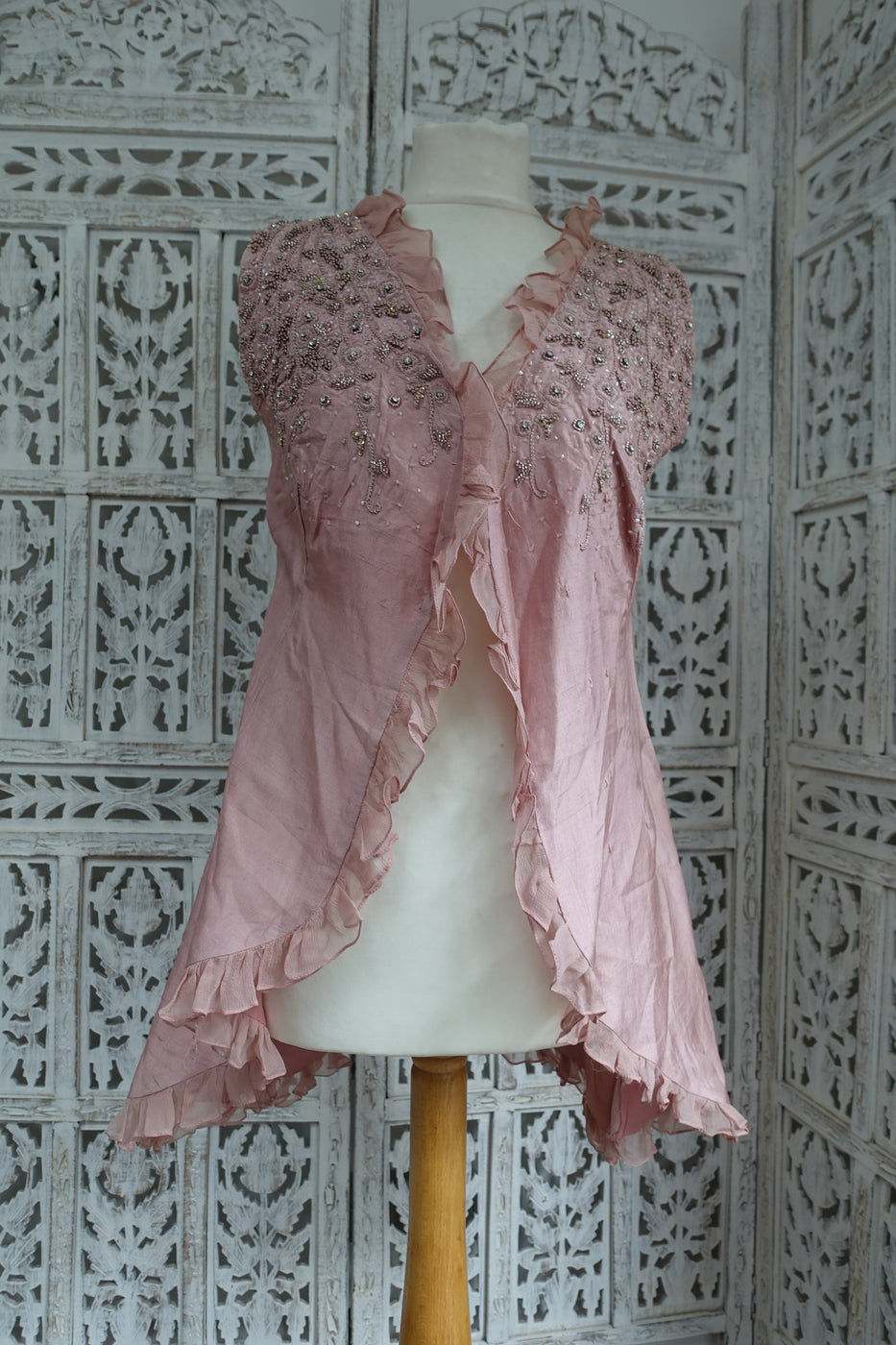 Soft Pink Silk Jacket UK 8 / EU 34 - Preloved - Indian Suit Company