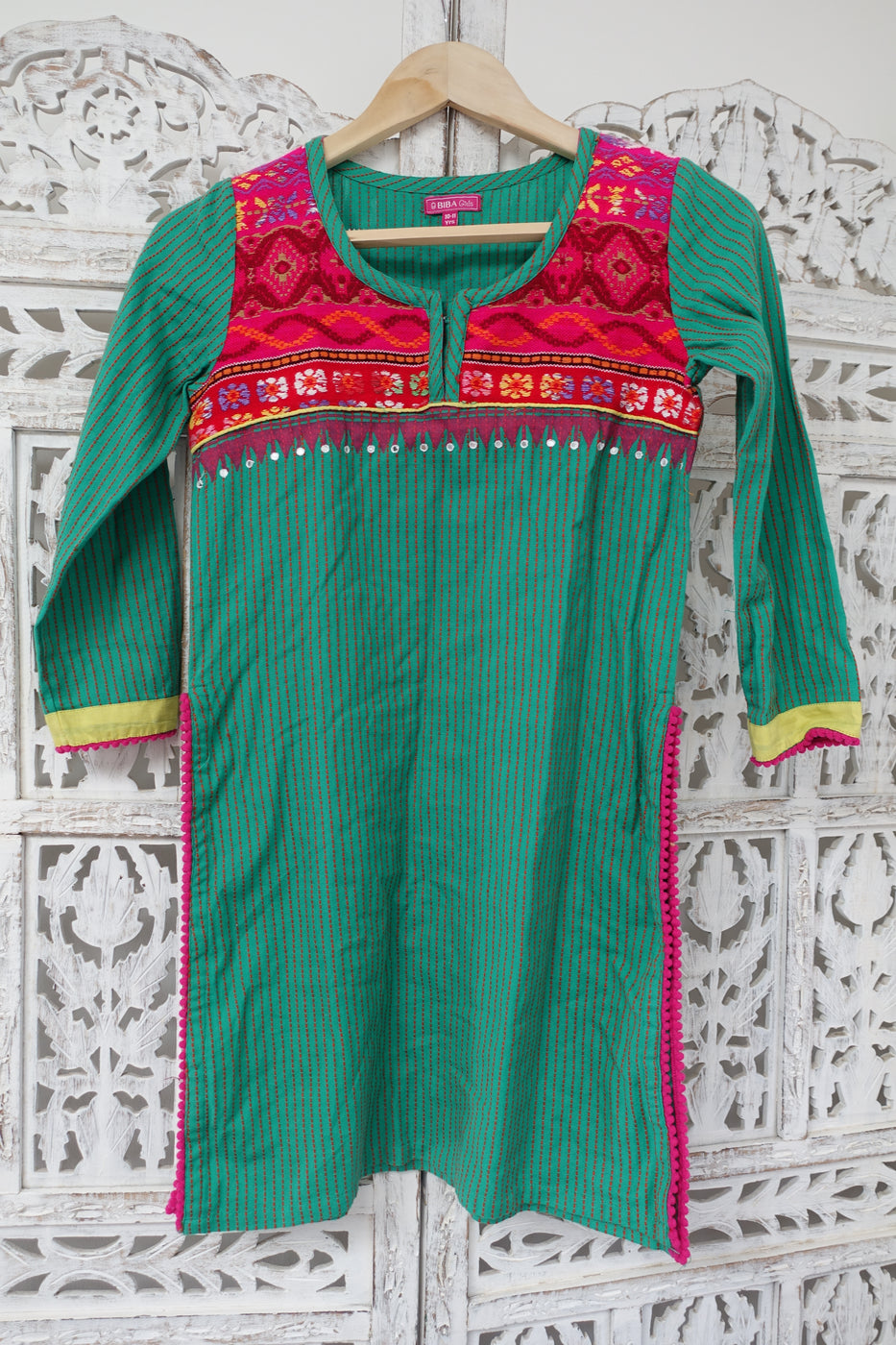 Green Biba Age 9-10 Dress - New - Indian Suit Company