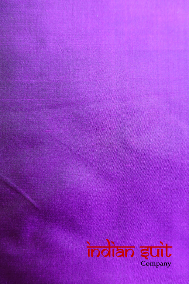 2 Tone Purple With Black Tones Vintage Silk - New - Indian Suit Company