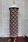 Black Embroidered Crepe Silk Unstitched - New