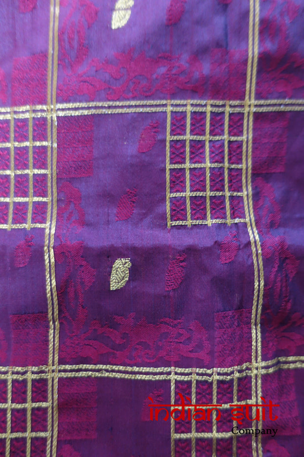 Maroon Vintage Pure Silk - Indian Suit Company