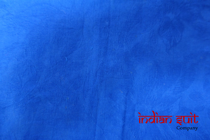 Blue Mirrored Cotton Unstitched Kameez - Indian Suit Company
