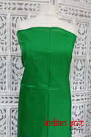 Pure Green Indian Silk Unstitched Dressmaking Fabric - New - Indian Suit Company