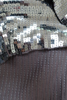 Gunmetal Silver Sequinned Unstitched - New - Indian Suit Company