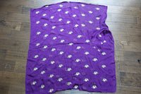 Purple Crepe Silk Embroidered Fabric - New - Indian Suit Company