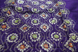 Purple Cotton Silk Vintage Unstitched Suit - Indian Suit Company