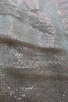Cream Metallised Cotton Fabric Unstitched Dressmaking Fabric - New - Indian Suit Company