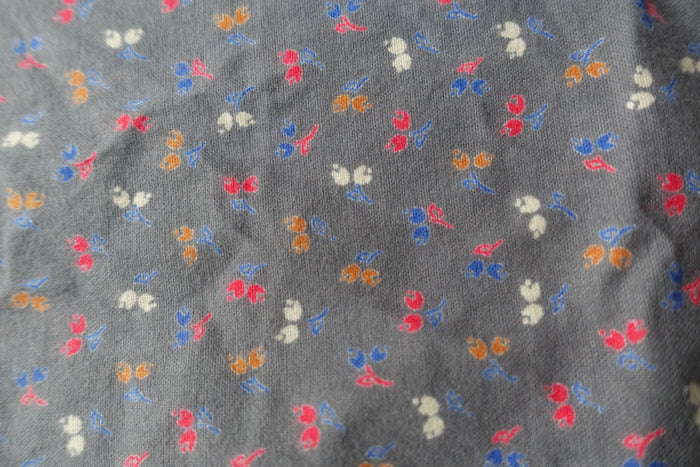 Grey Printed Soft Cotton Fabric - Indian Suit Company