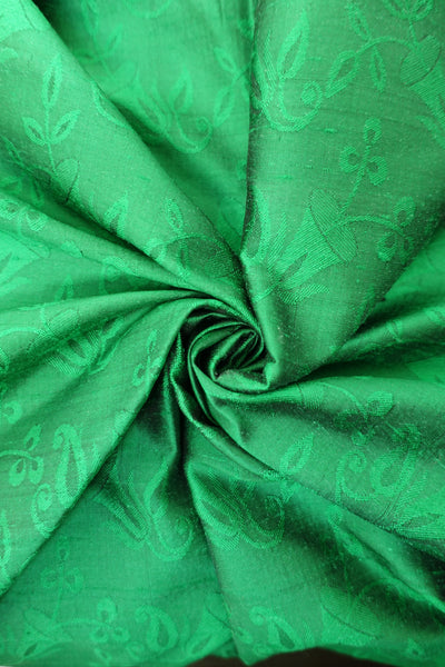 Emerald green vintage silk -new
