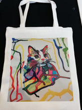 Charger l'image dans la galerie, Tote Bag Cat Colors