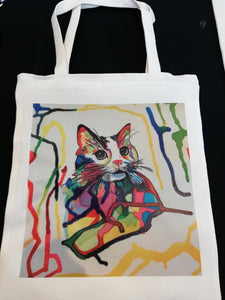 Tote Bag Cat Colors