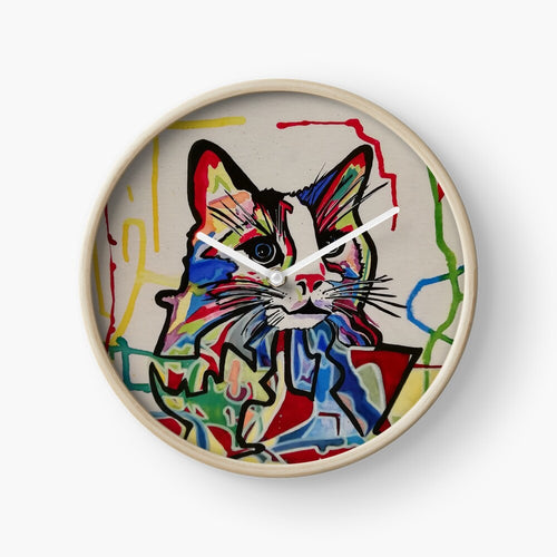 Horloge Cat Colors