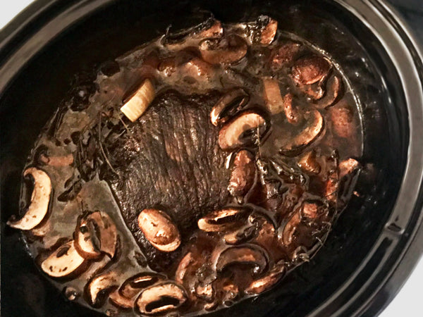 Easy Slow Cooker Pot Roast with Mushrooms and Thyme