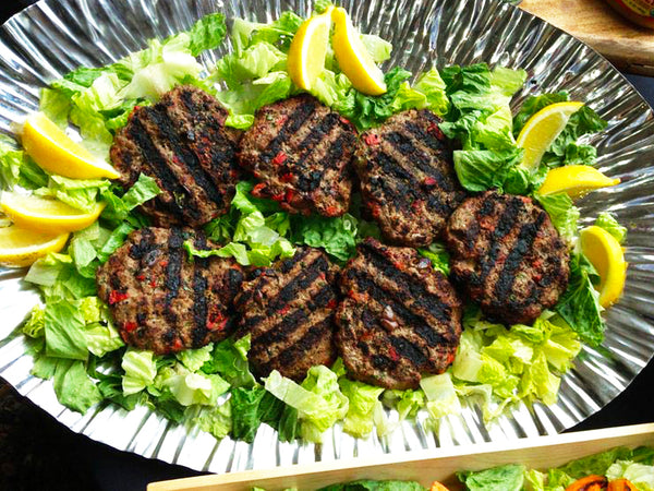 Fat-Burning Buffalo Burger with Dairy-Free Pesto Topping
