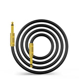 "Kalena Gold-plated TS 1/4"" shielded cable with straight connectors - Kalena Instruments / Black PVC"