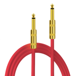 "Kalena Gold-plated TS 1/4"" shielded cable with straight connectors - Kalena Instruments / Red PVC"