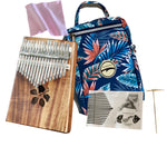 Kalena 17 key Solid Acacia Kalimba (hibiscus) with Gig Bag - Kalena Instruments