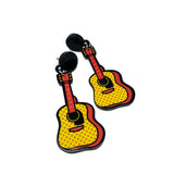 Ukulele Earrings Musical Instrument Earrings for Music Lovers - Kalena Instruments / Guitar