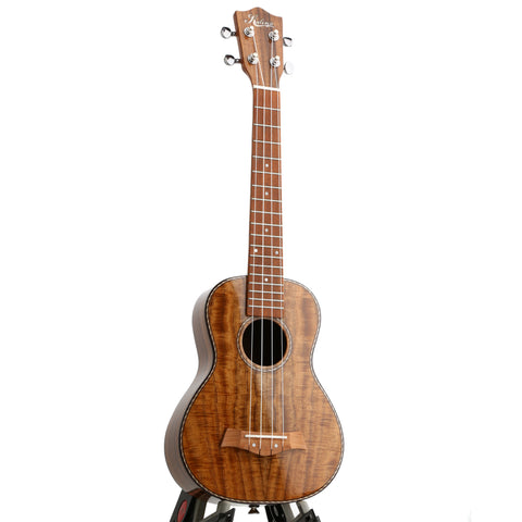 Kalena Concert Longneck Solid Acacia Top Ukulele with Maple binding