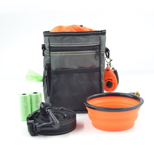 All in one - treat pouch, clicker, portable bowl, and waste bags - 25% off!