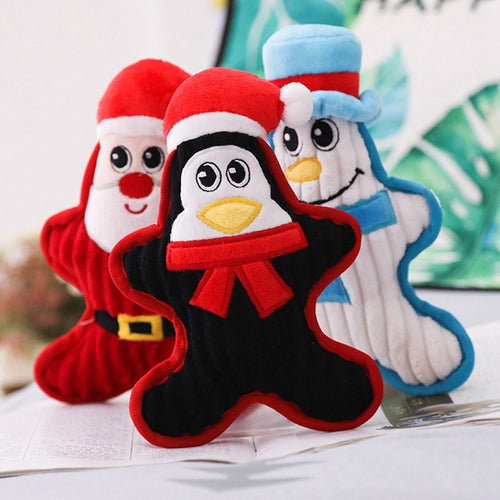 Christmas Dog Cat Toys Snowman. Santa Claus, Penguin