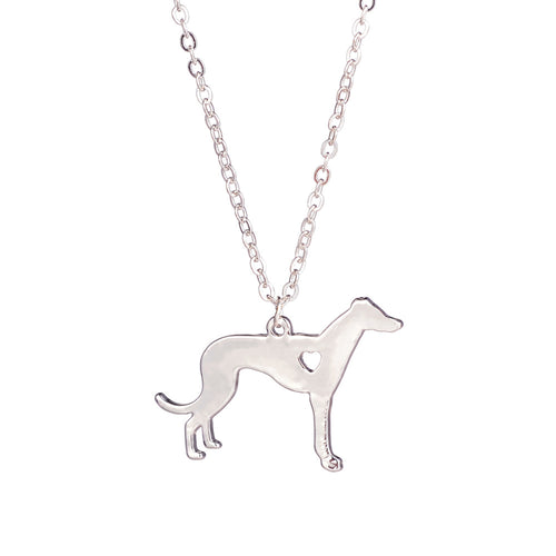 Greyhound Necklace Dog Pendant Necklace