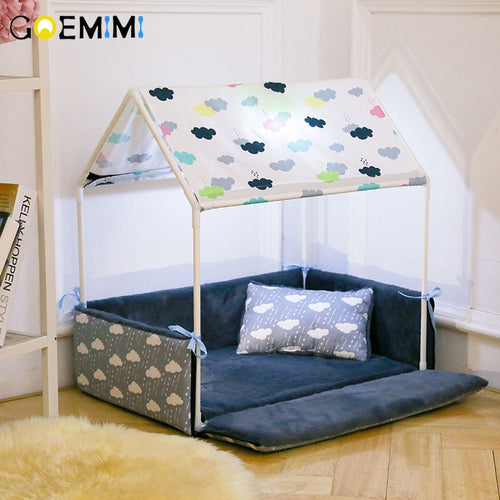 Home Shape Dog Bed + Tent