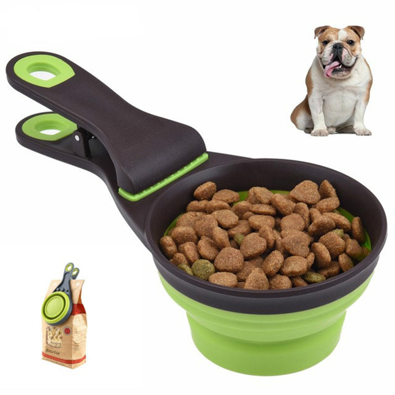 2 IN 1 Multi-functional Dog Bowl Portable Collapsible Food Containers