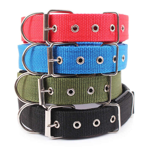Adjustable Nylon Strap Dog Collar
