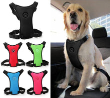 Load image into Gallery viewer, Soft Nylon Mesh Dog Car Seat Harness Safety Dog Vehicle Cars Seat Belt Harnesses Black Red Blue Colors For Medium Large Dogs