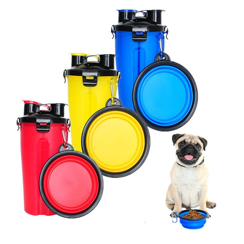 Portable Dog Feeder Bottle and Bowl