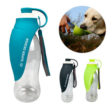 Load image into Gallery viewer, 580ml Portable Pet Dog Water Bottle Soft Silicone Leaf Design Travel Dog Bowl